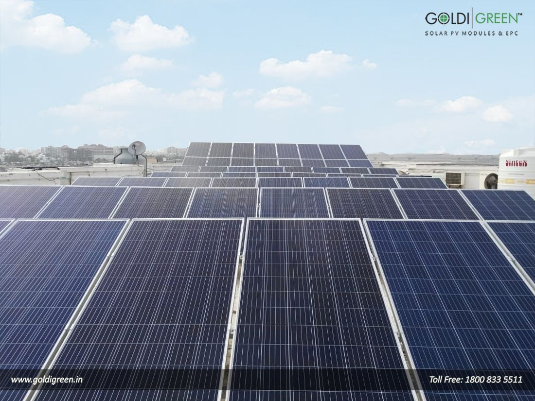 Goldi Has Installed A 35kw Grid Connected Solar Plant On The Southern Gujarat Chamber Of Commerce Solar Panel Manufacturers Solar Roof Solar Panel