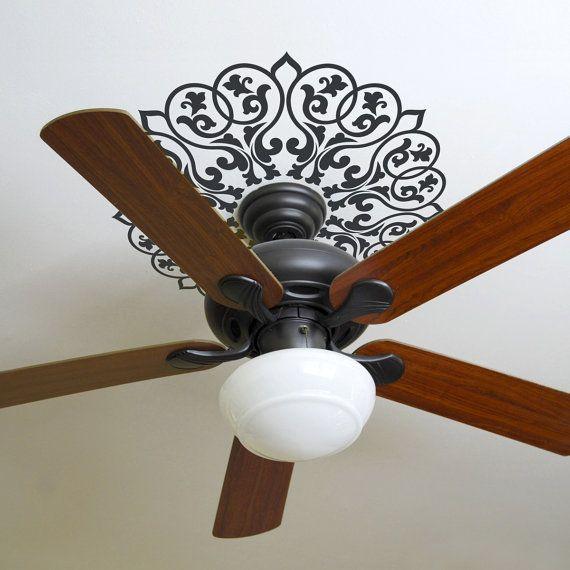 Ornate Mandala Graphic For Ceiling Fan Or Circular Shape Wall
