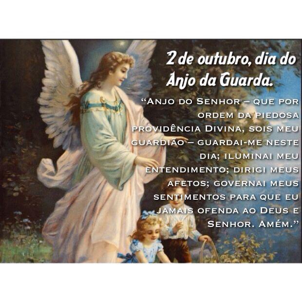 Dia Do Anjo Da Guarda Oracao Santo Anjo Da Guarda Anjo