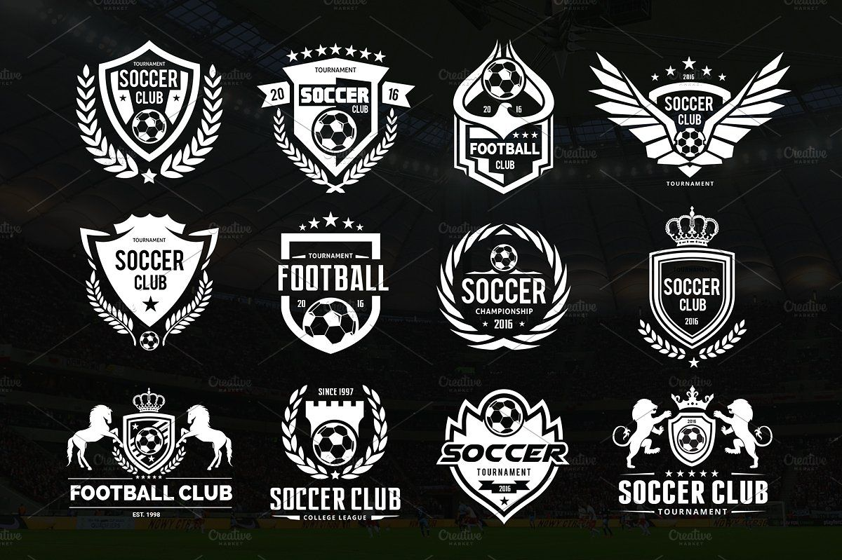 Football Logo Set Vector Psd Logo Set Football Logo Soccer Logo