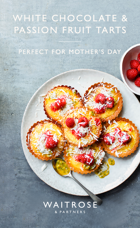 Bake for Mother's Day with our white chocolate and passion