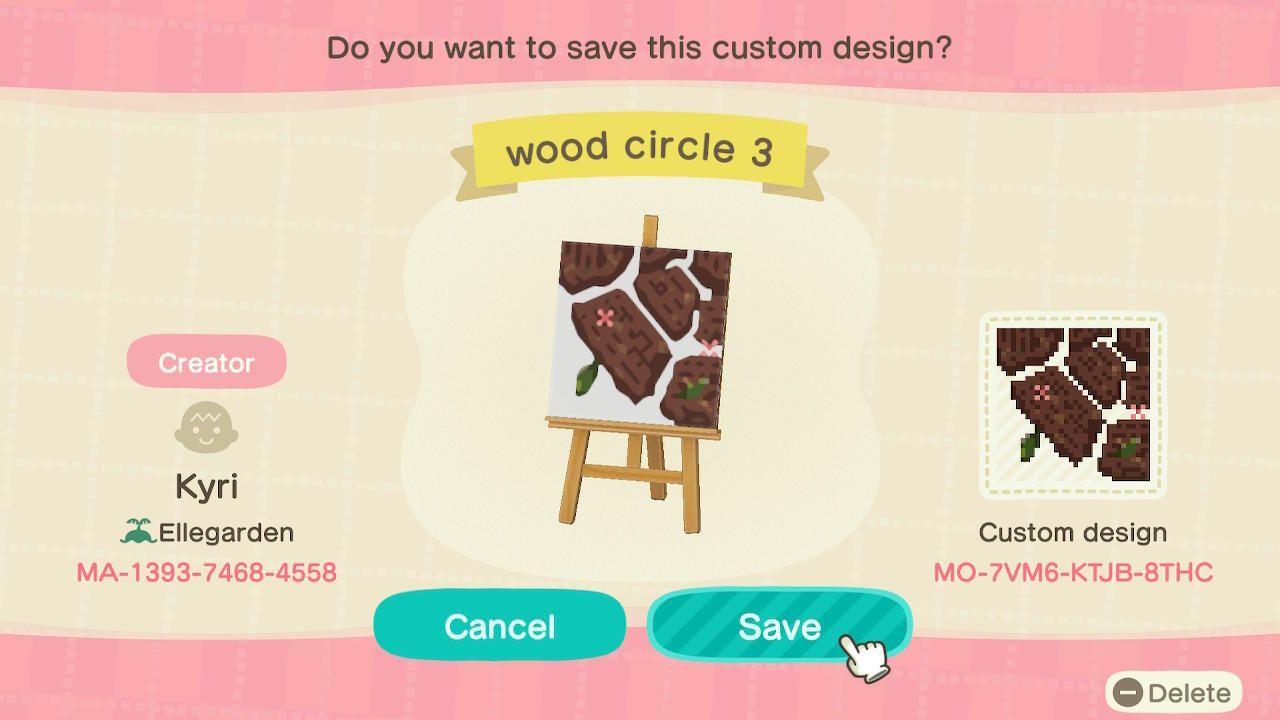 Wood circle - Animal Crossing: New Horizons Custom Design ... on Animal Crossing New Horizons Wood Design  id=23907