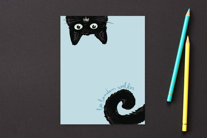 Curious Cat by Refound Nostalgia at minted.com