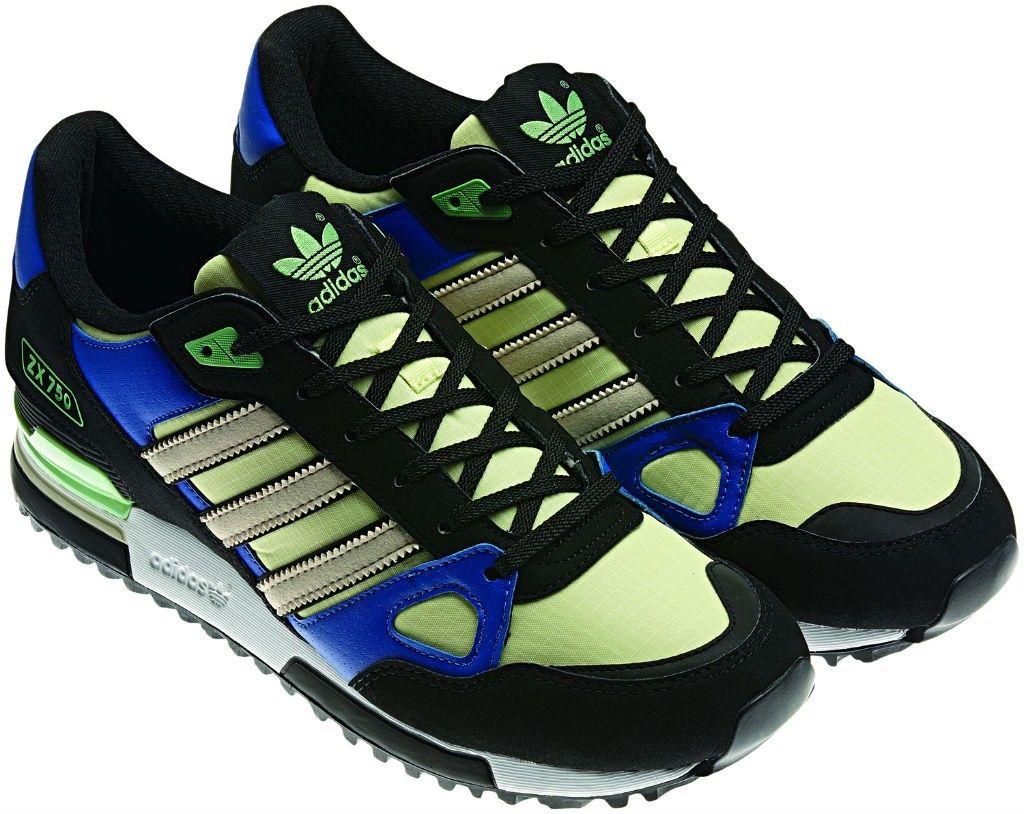 Originals Verde Negro Mujer Azul Felicidad Adidas Zapatillas 750 Zx MUzpVS