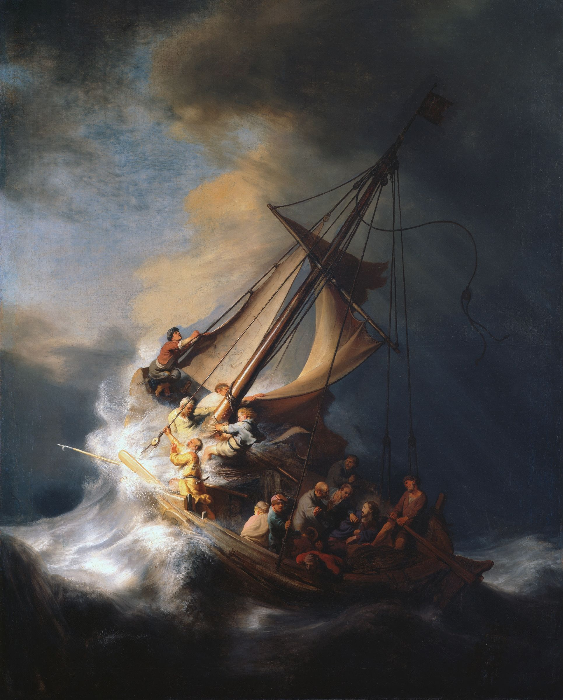 La Tormenta En El Mar De Galilea Rembrandt Tales Rembrandt Church Decor