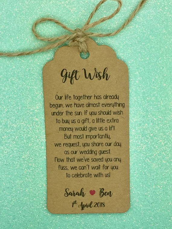 Personalised Wedding Gift Wish Money Request Poem By Greenfoxytags Wedding Gift Money Wedding Gift Poem Wishing Well Wedding