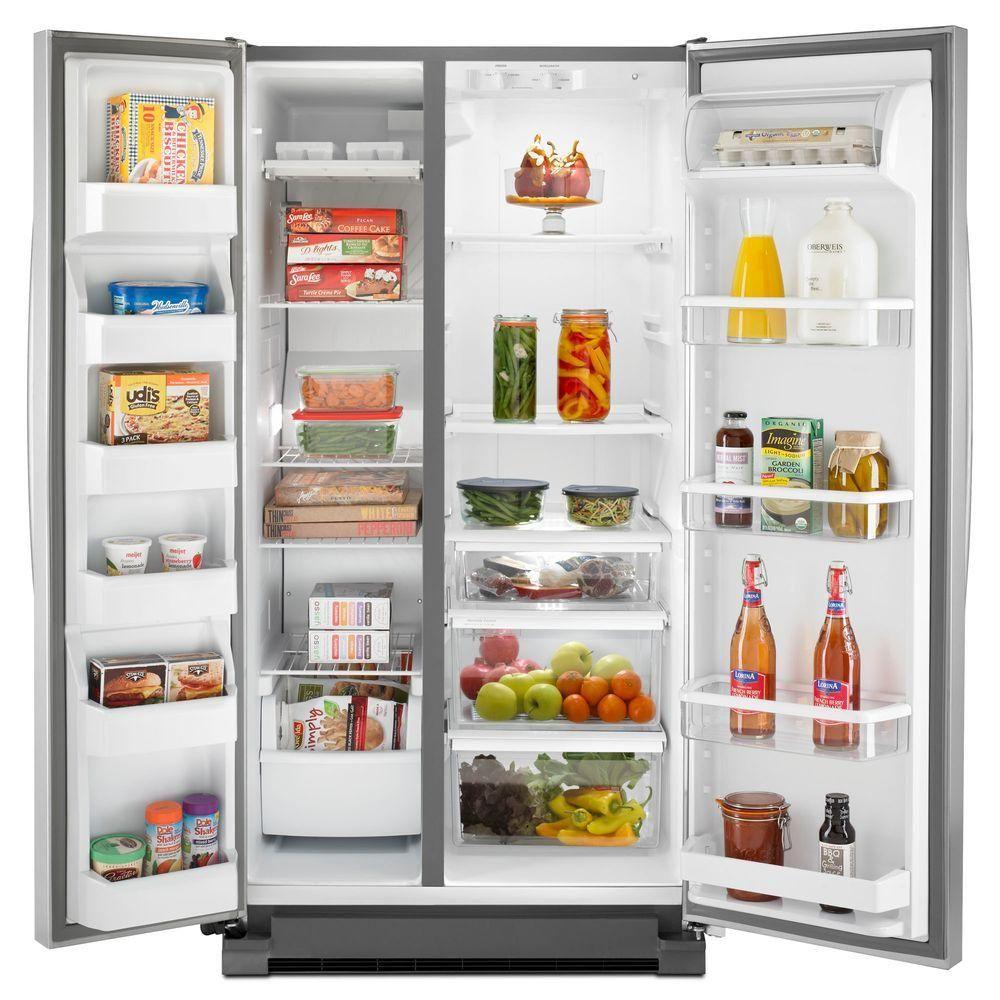 Whirlpool 36 in. W 24.9 cu. ft. Side by Side Refrigerator in ...