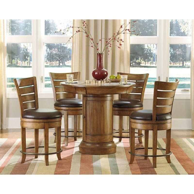 Hammary 5 piece oak pub table set hamm767 1 bar tables hammary 5 piece oak pub table set hamm767 1 watchthetrailerfo