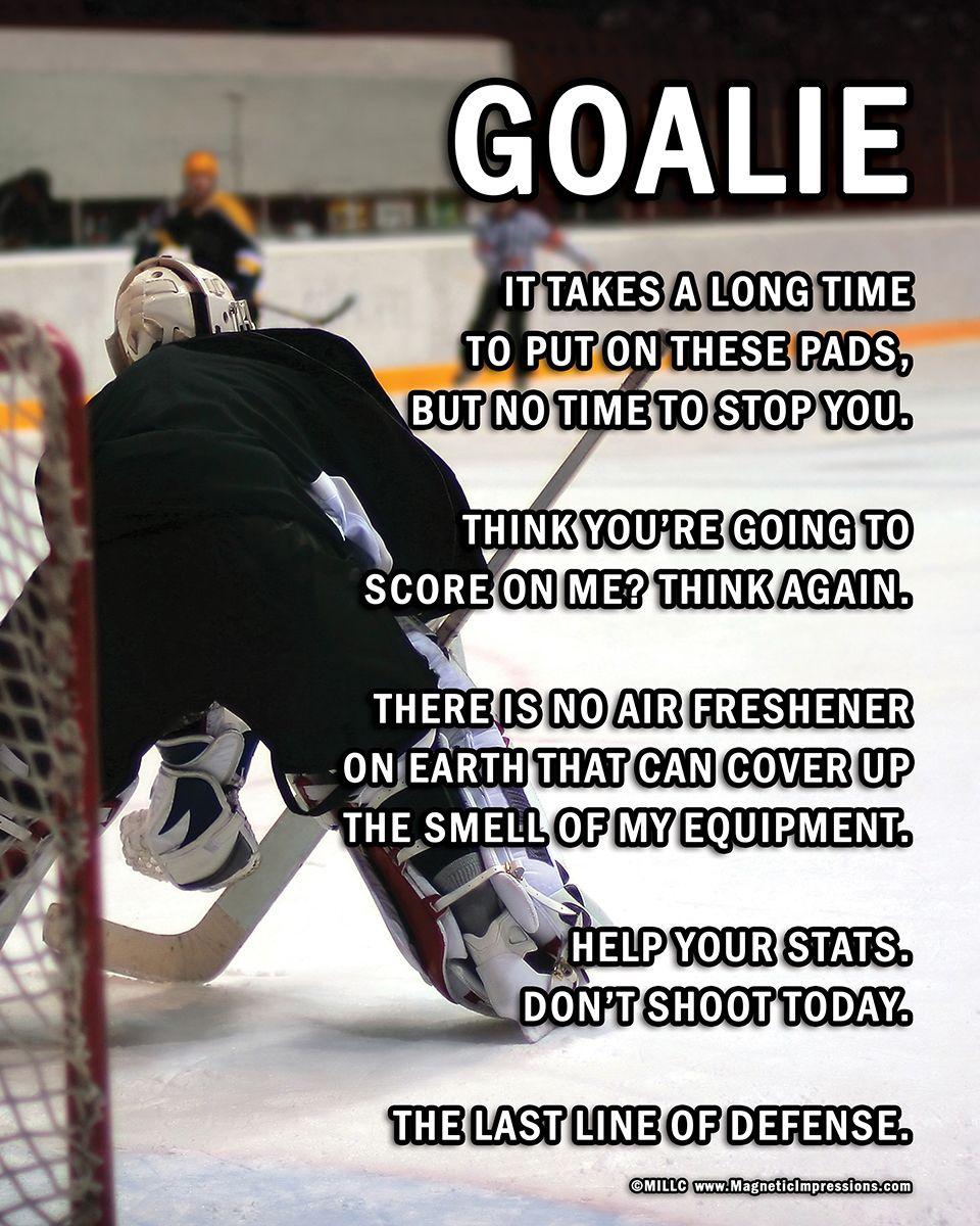 Ice Hockey Goalie on Ice 8x10 Sport Poster Print Goalie