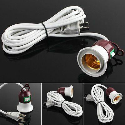 For E27 Led Light Bulb Lamp Holder Flexible Extension Adapter Socket 10a Bulb Pendant Light Lamp Holder Light Bulb Lamp