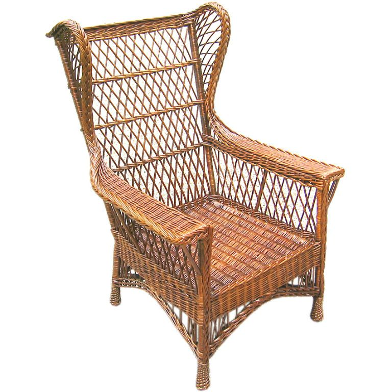 wicker wingback chair replacement cushions