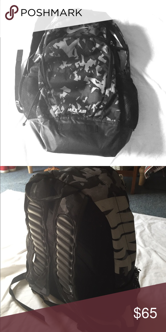 Army print Nike backpack Great condition. Three different pockets. Nike  brand. Army print. Nike Bags Backpacks 7aa4a1ceb0