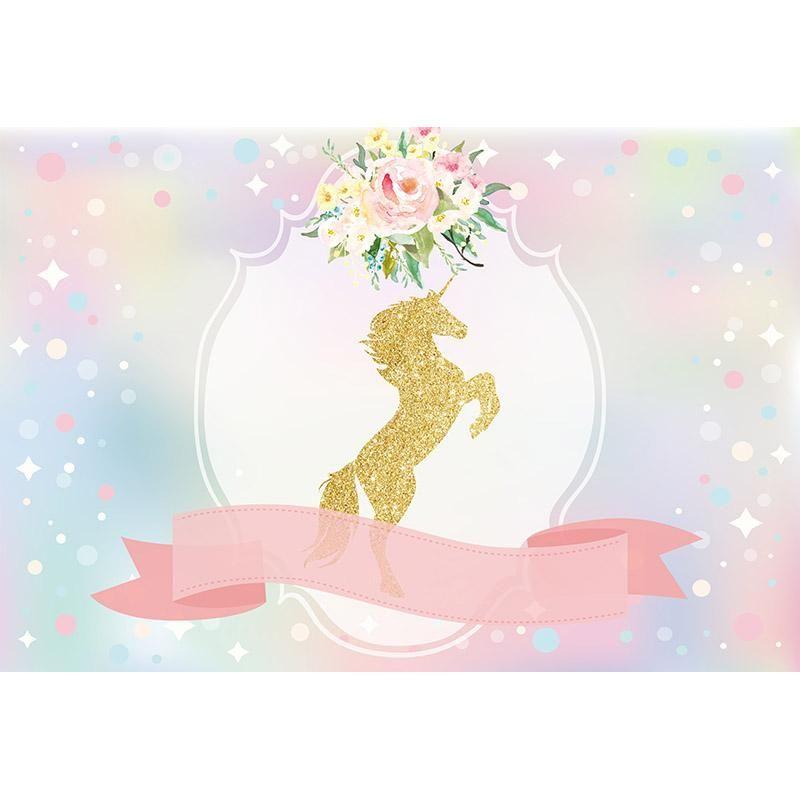 Baby Girl Nursery Wallpaper Borders 5ft X 7ft 150cmx210cm Vinyl Or Cloth Unicorn Theme