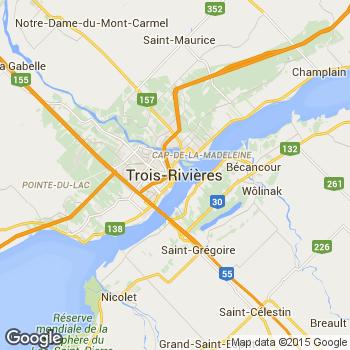 Three Rivers Canada Map Trois Rivières, Québec, Canada (Trois Rivieres) (Three Rivers