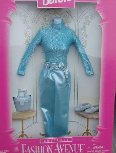 Barbie Fashion Avenue Boutique 1996 Blue Suit Outfit New