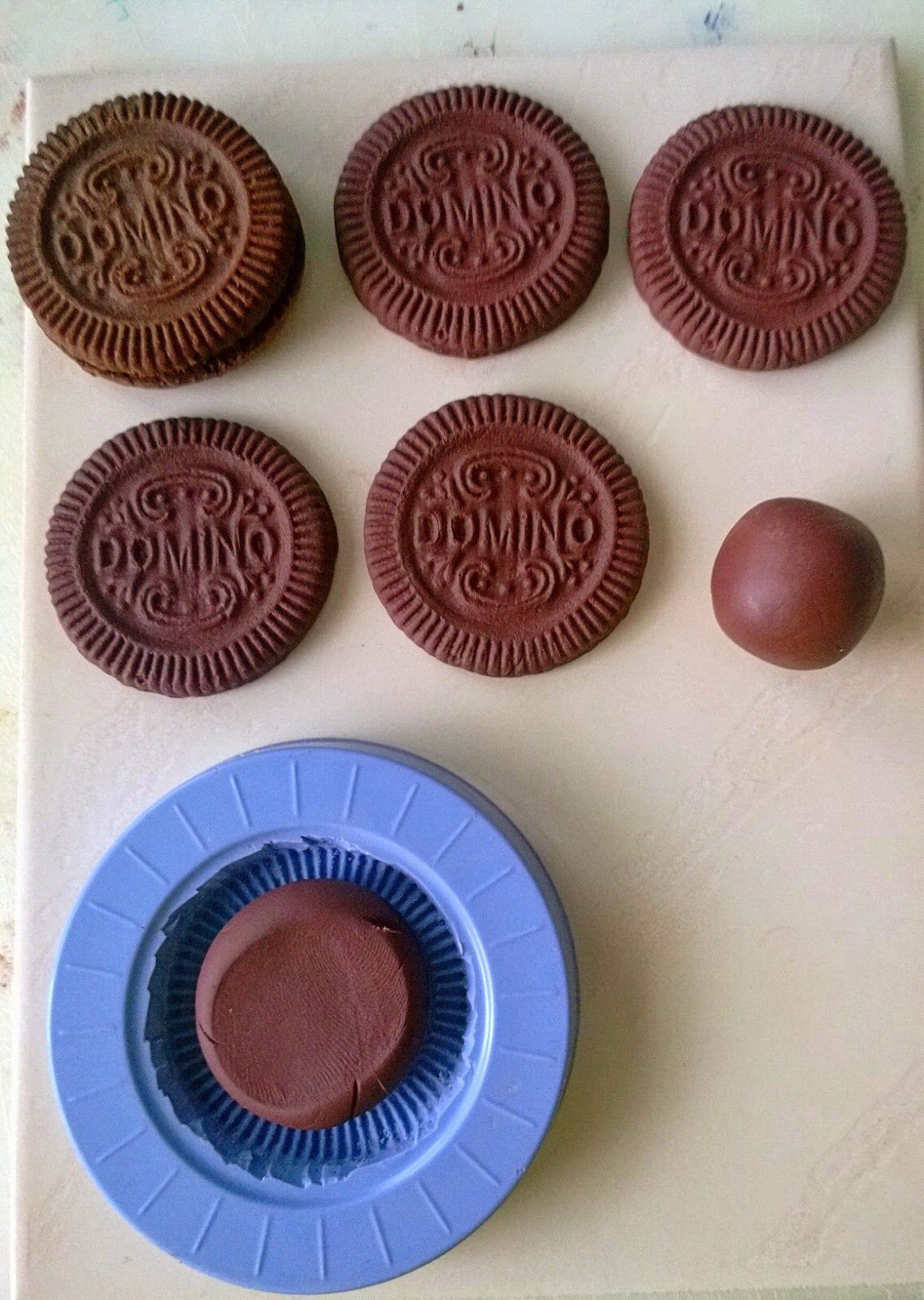 FIMO polymer clay biscuits