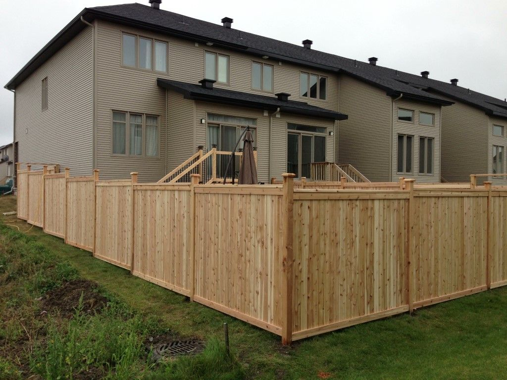 Western Red Cedar Tongue And Groove Fence Built By
