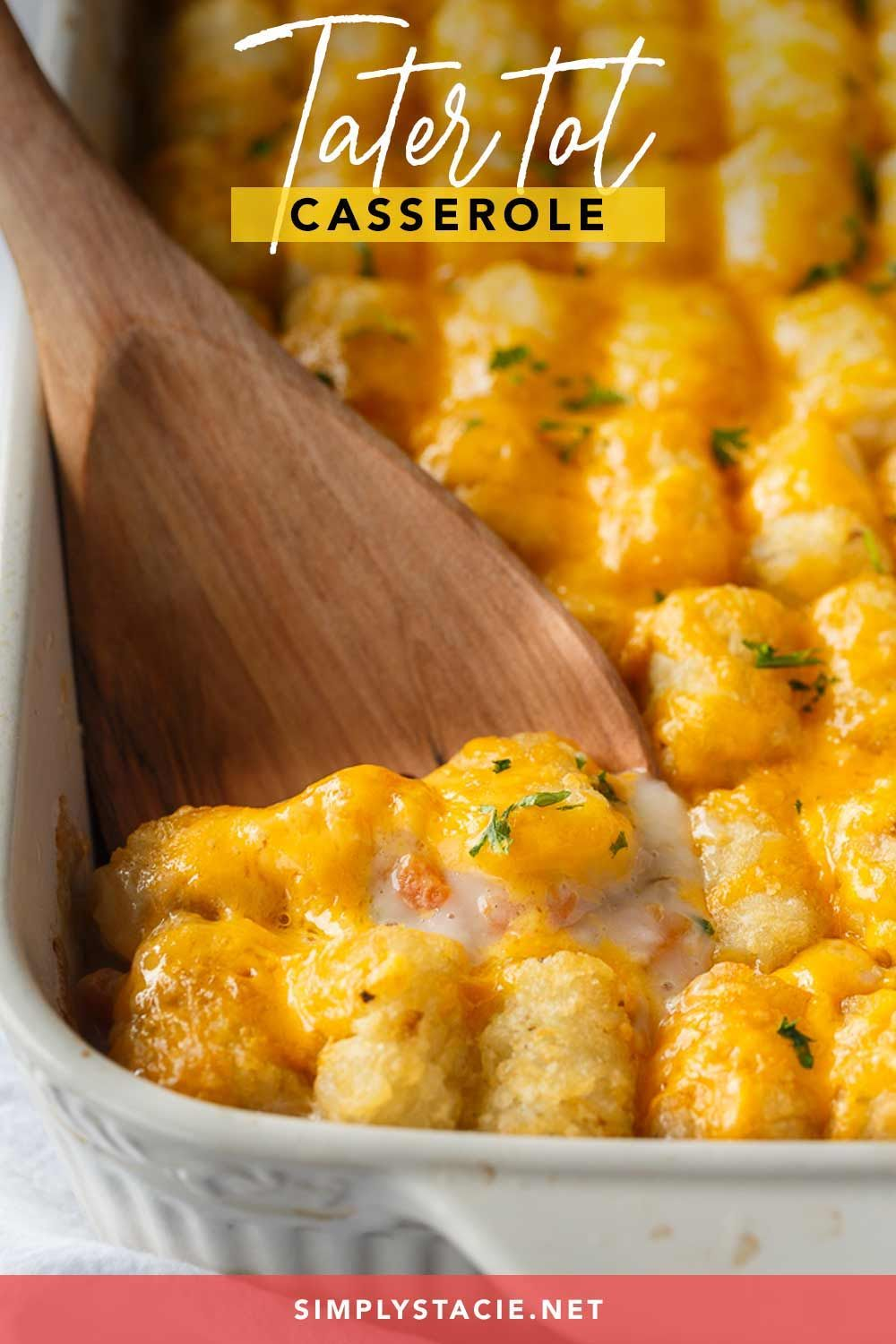 Tater Tot Casserole Recipe In 2020 Tater Tot Casserole Casserole Recipes Comfort Food Recipes Casseroles