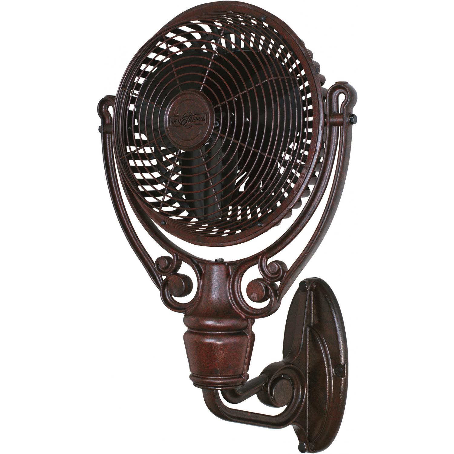 Fanimation Old Havana Outdoor Wall Mounted Fan Rust Bbqguys Wall Mounted Fan Wall Fans Wall Mount Fans