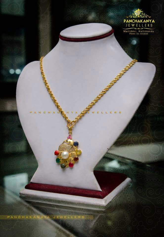 Mayur gold chain locket 22k 22k Locket Weight 0.75 lal (6.43 gram ...