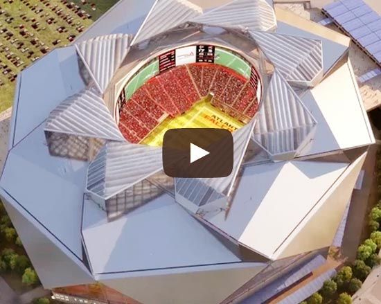 You do NOT want to miss the new Fly-Through video of the #NewATLStadium