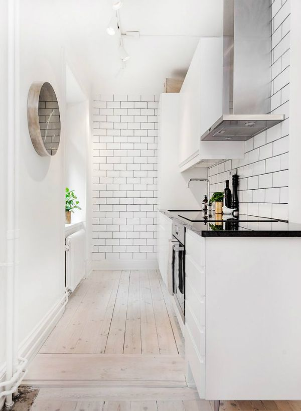 Picture Of Stylish And Functional Narrow Kitchen Design Ideas 9