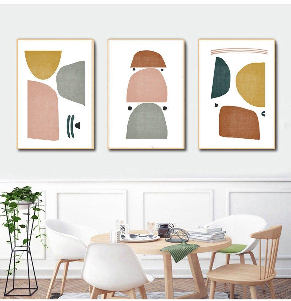 Scandinavian Wall Art Trio Art Prints Modern Abstract Art Etsy In 2021 Living Room Art Prints Scandinavian Wall Art Scandanavian Interiors Living Room