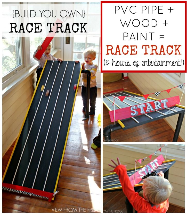 Diy Race Track Via View From The Fridge Diy Toys Car Kids Races Diy For Kids