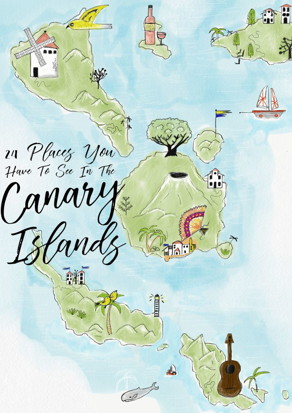 Map Of Spain Tenerife.24 Things To See And Do In The Canary Islands Travel Canary