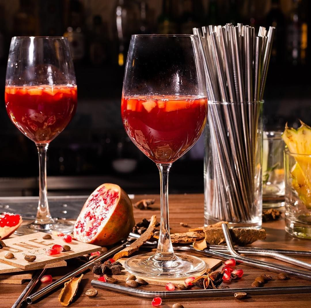 How Are You Bringing In The Weekend You Ll Find Us Sipping On The One Street Sangria Created Pomegranate Vodka Cocktails With Malibu Rum Rum Cocktail Recipes