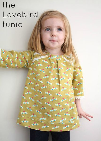 The Lovebird Tunic Sewing Pattern Free Sewing Pinterest