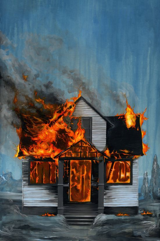 Image Result For House On Fire Drawing With Images Fire