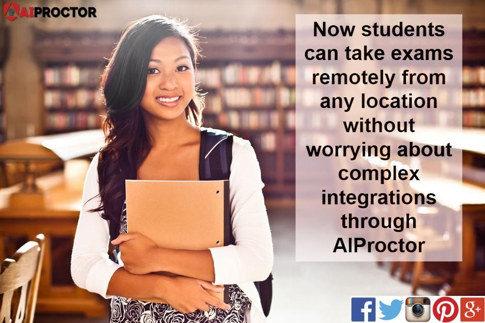 Now students can take exams remotely from any location