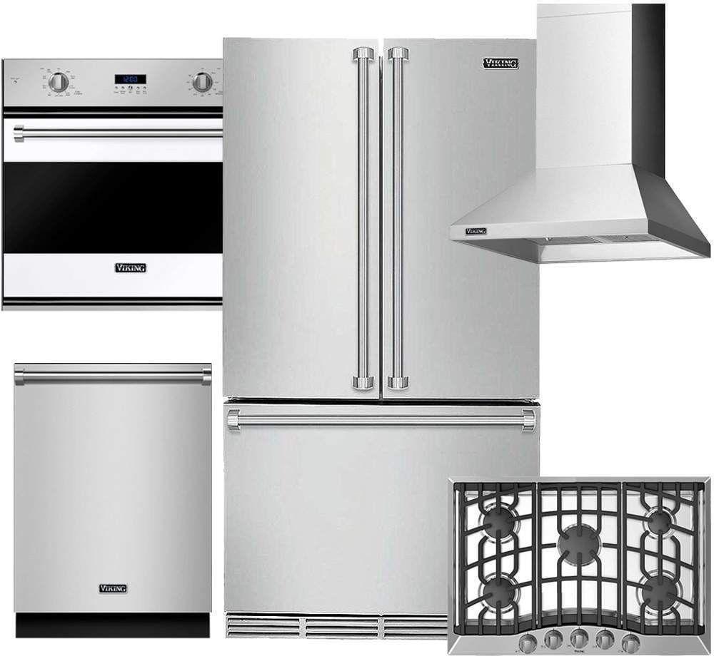 Viking Kitchen Package: RVGC33015BSS, RVSOE330WH, RVRF336SS ...