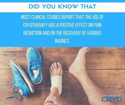 Did you know that the use of cold therapy in acute sports injuries as well as in the rehabilitation of the injured athlete has become a generally accepted treatment method.