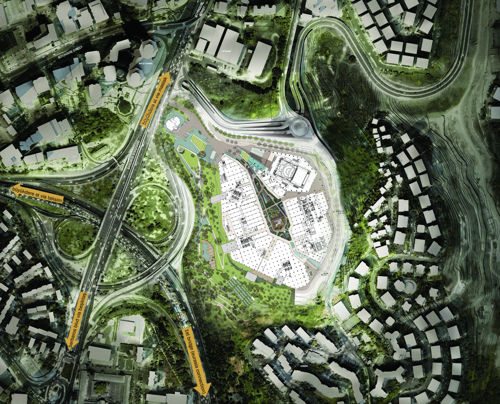 Gallery of zorlu center emre arolat architects for Site plan with landscape