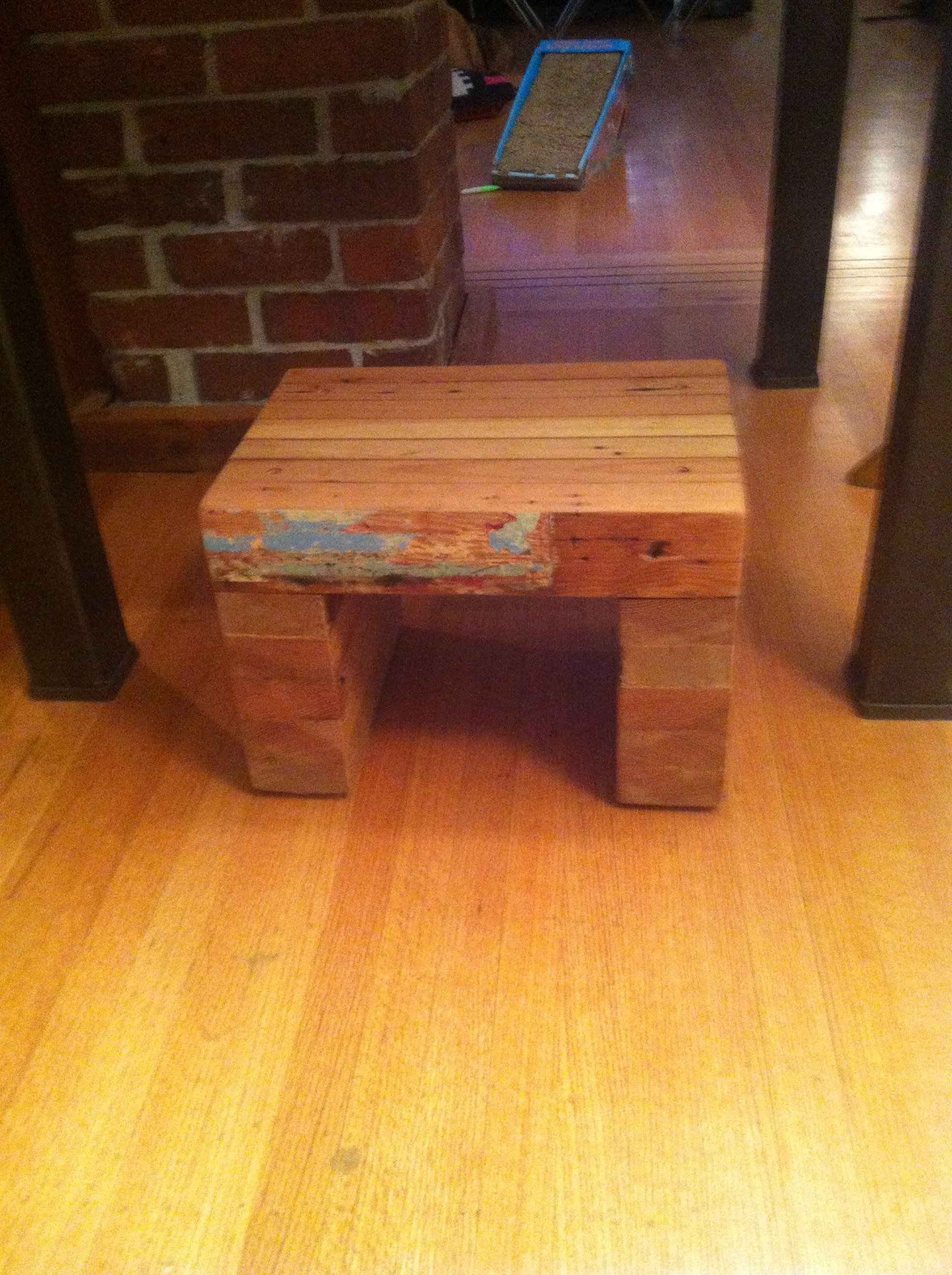 Reclaimed 2x4 Step Stool A Must For My Short Lady Friend Step Stool 2x4 Furniture Wood Diy