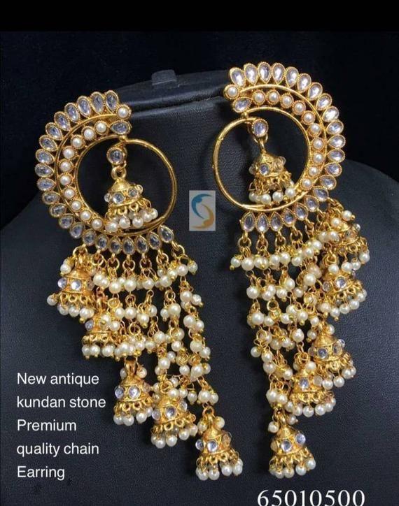 On SaleKundan earrings , Jumka earrings, Bridesmaids jewellery, Indian Pakistani wedding