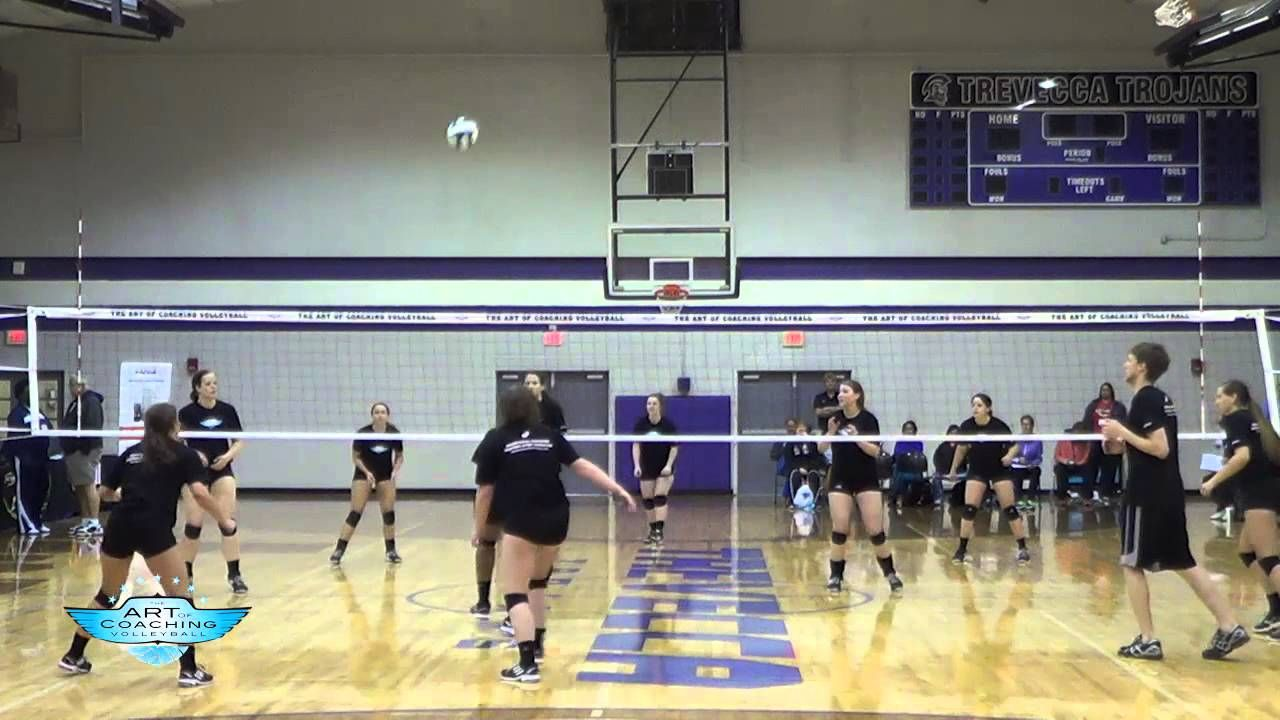 First Ball Score Drill With Brandon Rosenthal The Art Of Coaching Volleyball Coaching Volleyball Volleyball Drills Drill