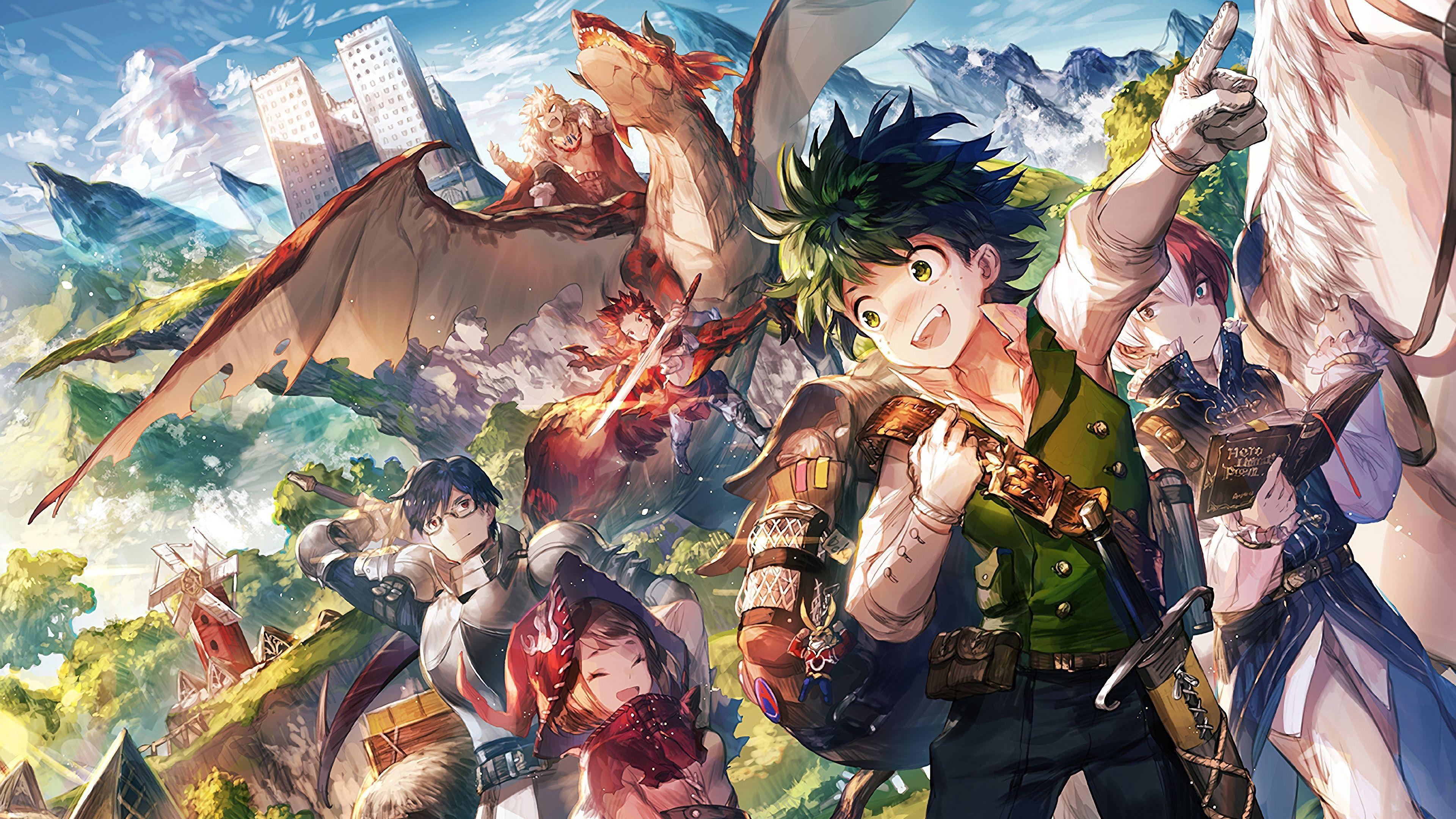 My Hero Academia Boku No Hero Academia Anime Izuku Midoriya Shoto Todoroki Ochaco Uraraka Tenya Iida Eijiro Kirishima Katsu My Hero Hero Wallpaper Hero