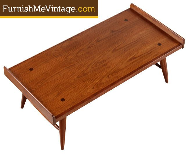 Mid Century Modern American Made Coffee Table By Willett The Table