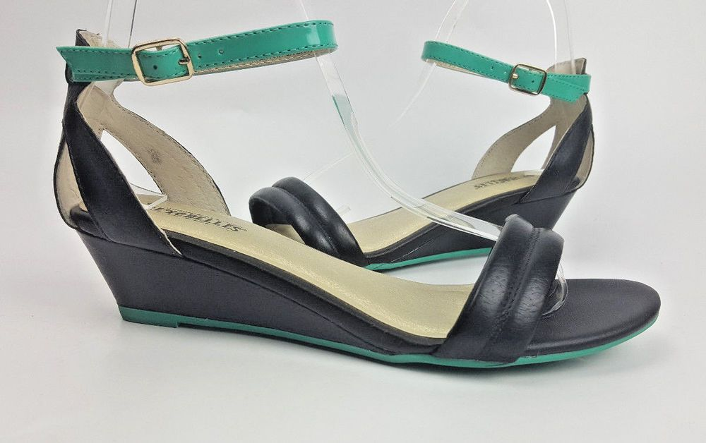 a1e56dfba20a Seychelles shoes 6 M teal and blue strappy wedge heel sandals  Seychelles   Strappy