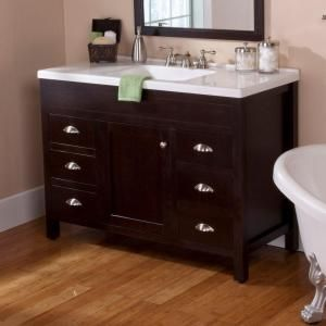 St Paul Wyoming 48 In Vanity Chocolate With Composite Top White