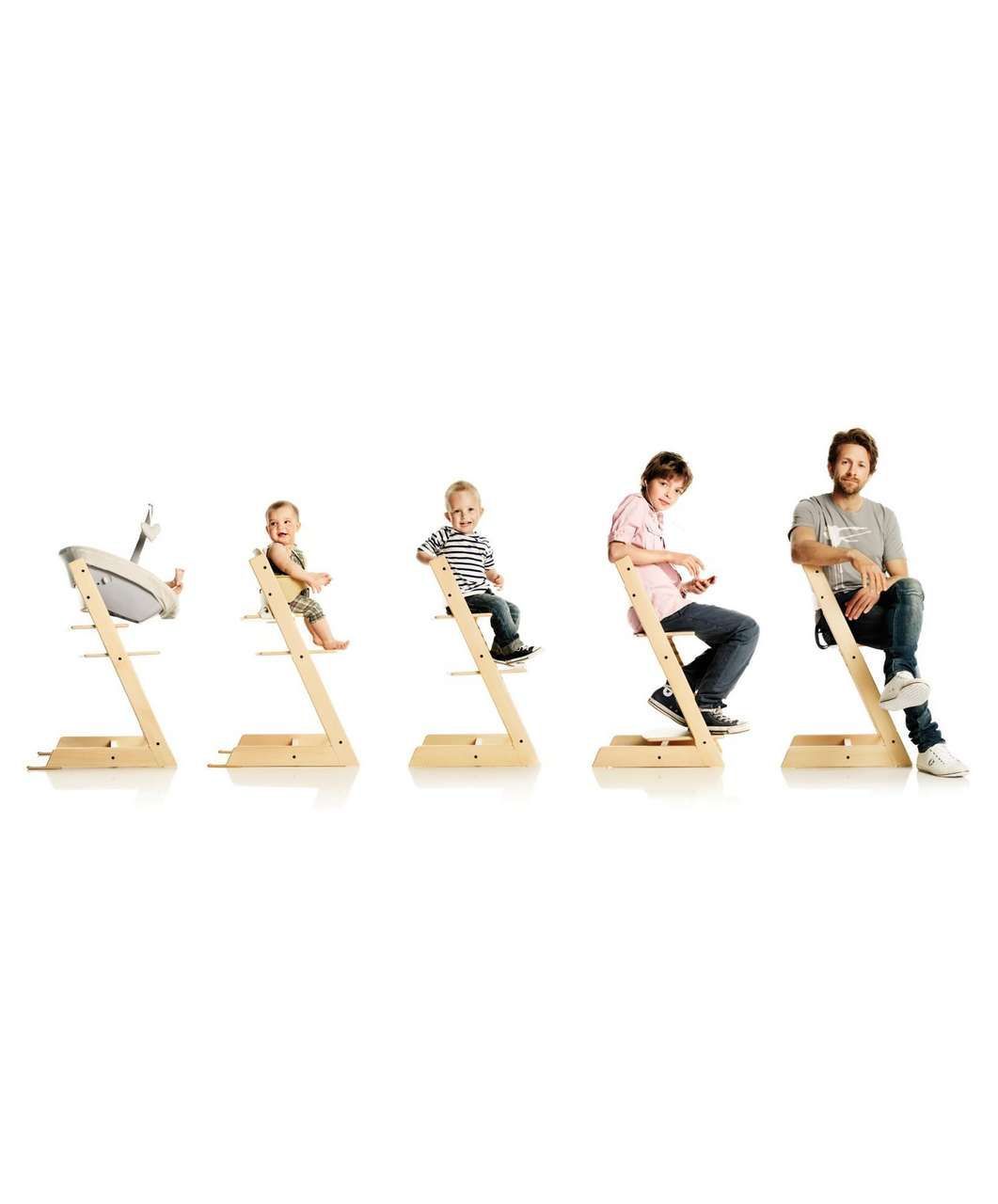 Chaise évolutive Tripp Trapp Stokke Tripp Trapp And Baby Set Package Natural Stokke