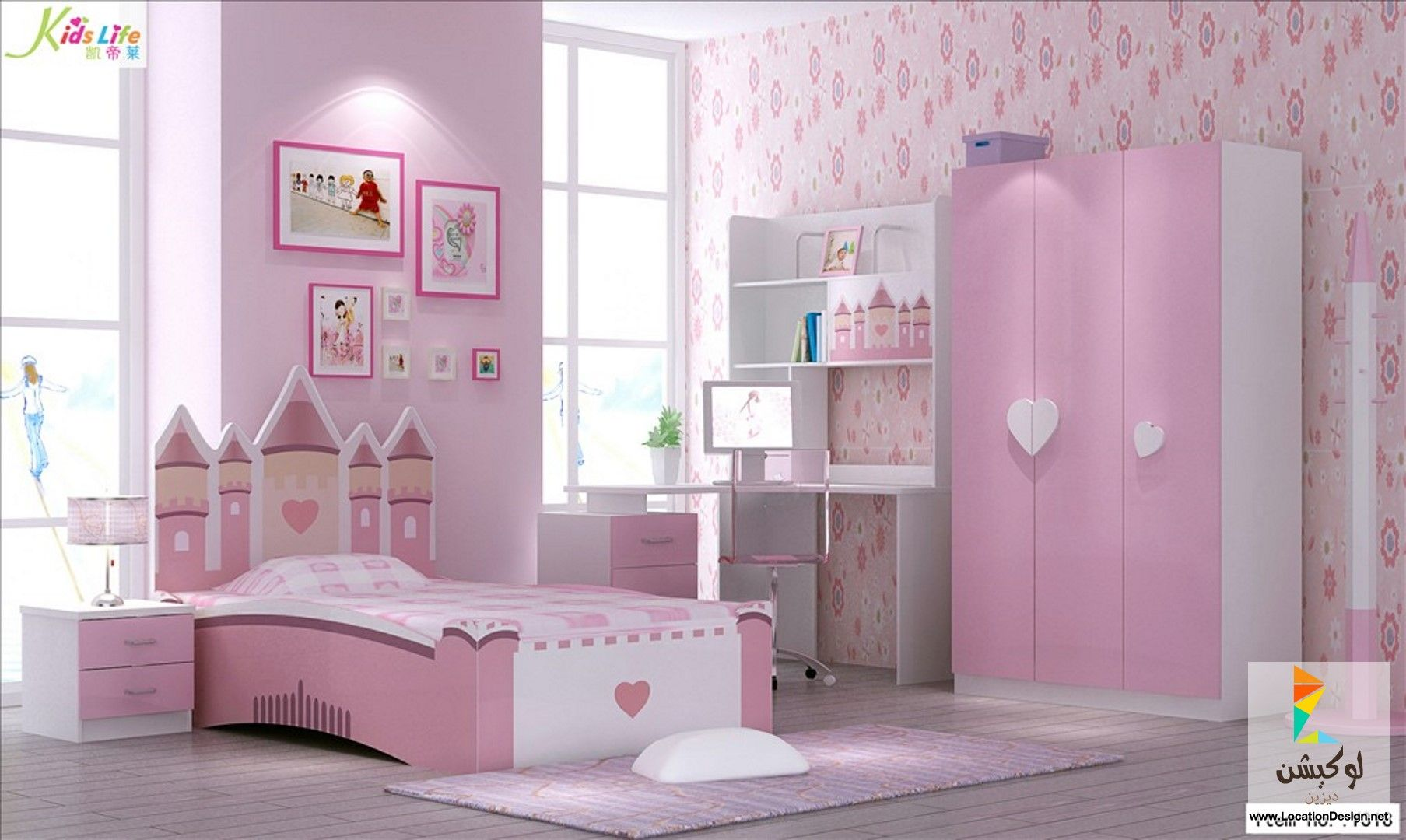 Bedroom sets for girls pink - China Pink Castle Kids Bedroom Furniture Sets Find Details About China Art Furniture Acrylic Chair From Pink Castle Kids Bedroom Furniture Sets Foshan