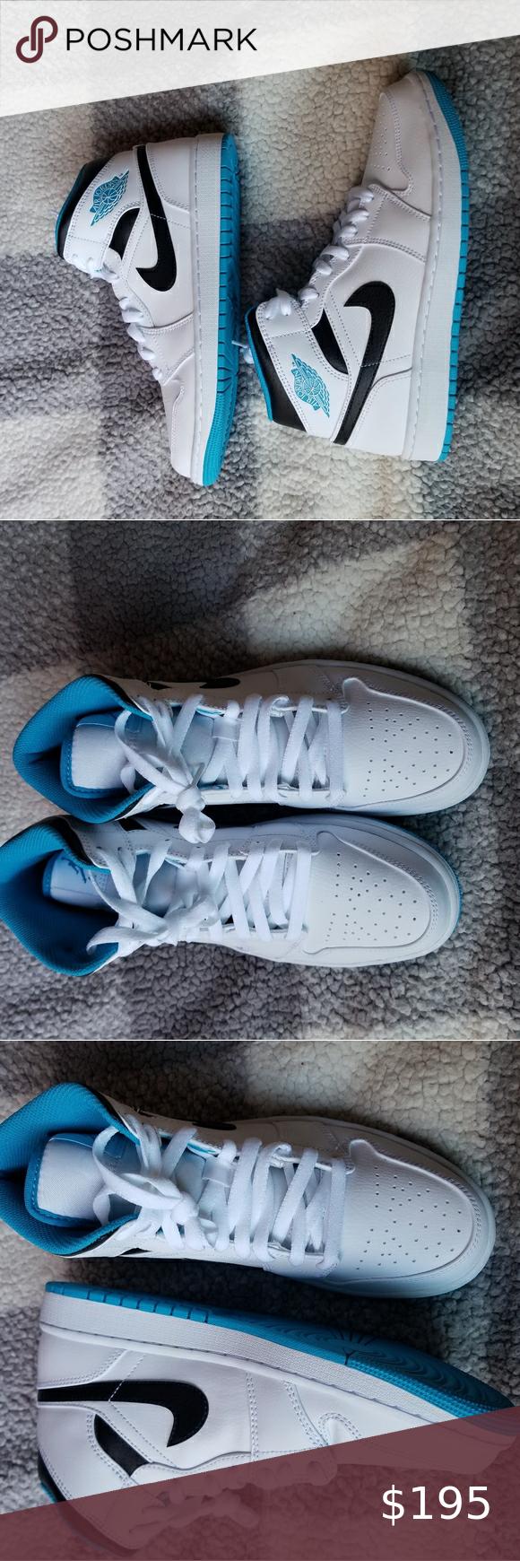 Nike Air Jordan 1 Mid Lazer Blue Men 9