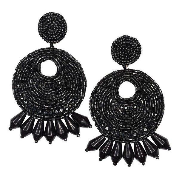 Kenneth Jay Lane White And Black Hoop Clip Earrings Silver/white/jet RanjnwM0d4
