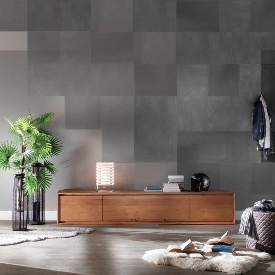 arredamento sala/soggiorno mobile tv in legno di rovere ...