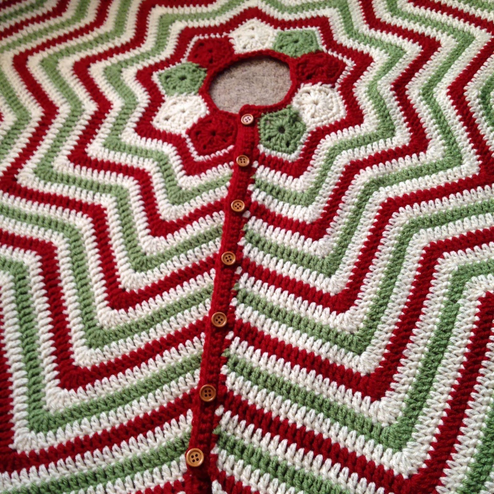 Christmas Tree Skirt | Wellen häkeln, Kostenlose häkelmuster und ...
