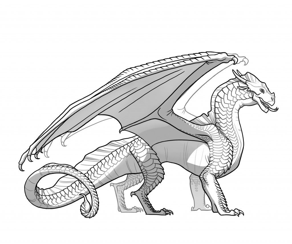 wings of fire Photo: Wings of fire pics  Dragon coloring page